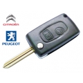 Remodeling Flip Case For Peugeot 2 Button SX9 Remote Key