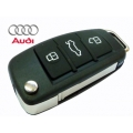 3-button remote enclosure with folding key and A8/A6/A4/A6 Audi TT