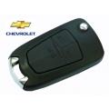 carcasa de telemando 3 botones espadin plegable para Chevrolet Cruze