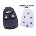 botones de goma para mando Chrysler de 3 pulsadores con membrana y contactos de carbon