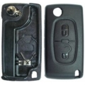 Folding Remote Housing Citroen 2 Buttons