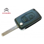 Carcasa Llave HQ SX9 Para Convertir el Telemando de Citroen C2 / C3 de Fija a Plegable