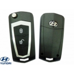 Hyundai Yuet / Nuevo (New) Santa Fe / Sportage carcasa para telemando 2 botones espadin plegable
