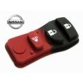 goma botonera para telemando Nissan y Chrysler 3 pulsadores
