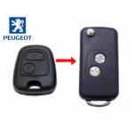 Carcasa Para Adaptar el Mando de Peugeot 206 Con Espadin Fijo a Plegable
