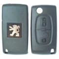 Housing Remote Control Peugeot 2 Buttons Folding