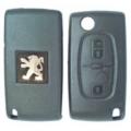 Carcasa Telemando Peugeot 2 Botones Plegable