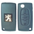 Housing Remote Control Peugeot 3 Buttons Folding