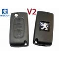 Folding Housing For Remote Control Peugeot 407