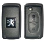 Carcasa Plegable Para Telemando Peugeot 2 Botones