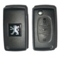 Folding Housing For Remote Control Peugeot 407 3 Buttons