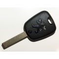 Peugeot 307 2 Button Remote Key Case With HU83 Blade