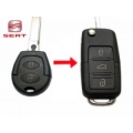 Housing For Adapt Control 3 Buttons Seat Leon 2002>2004 Key Fixed to Folding