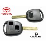 carcasa para Toyota y Lexus de 2 botones con espadin