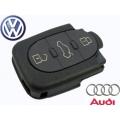 Carcasa Para Telemando Volkswagen y Audi de 3 Botones