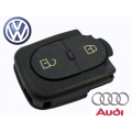 Round 2-Button Remote Casing Volkswagen
