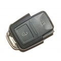 Square 2-Button Remote Casing Volkswagen