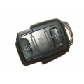 Square 3-Button Remote Casing Volkswagen