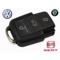 Carcasa Telemando 3 Botones Volkswagen / Seat / Skoda