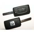 folding 2-button remote Citroen C2