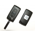 Folding Remote Control For Citroen Berlingo 2008< ID 46 3 Buttons