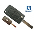 Folding Remote Control Peugeot 807 of 4 Buttons >20