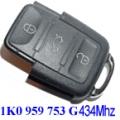 Remote Volkswagen 3 Buttons