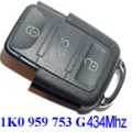 Remote Volkswagen Golf V y VI 2004> 3 Buttons